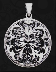 A Beautiful Sterling Silver Greenman Pendant. A great Gift For DAD, or for that pagan friend of yours that loves the Greenman! The Detail Is Amazing!