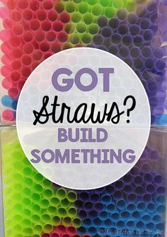 STEM Challenges: Straws are such a great material to use for your STEM projects. They are easy to use, come in many colors and sizes, and they are inexpensive!