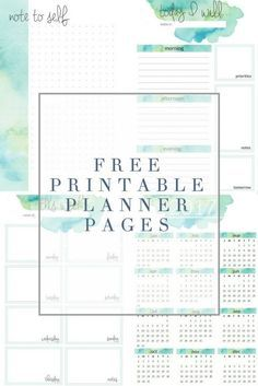 Free Watercolor Printable Planner Pages - download and print these FREE planner pages from The Crazy Craft Lady