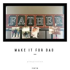 Father's Day is coming up. Paint and created this rotating photo display for the special guy in your life. All the tools supplies and instructions available at inspiration for your convenience! #fathersday #craftykids #pinspirationaz #makersgonnamake #phoenix #handmade