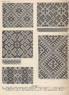 Icelandic knitting patterns for mittens. They'd be great for cross stitch as well.