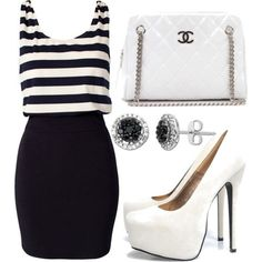 Untitled #49 (Club L Stripe Bodycon Dress $22.22) (girls,dress,girl,fashion,style,clothes,polyvore,our picks)