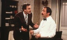 Andrew Sachs, Manuel from Fawlty Towers, dies aged 86: Andrew Sachs as Manuel (right) and John Cleese as Basil in Fawlty Towers | Matthew Weaver for The Guardian, 2 December 2016