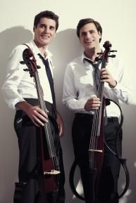 Young Croatian cellists Luka Sulic and Stjepan Hauser, known as 2CELLOS    http://www.2cellos.com/us/music/in2ition