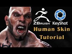 Tutorial - How to render Human skin with Keyshot. - Zbrush to Keyshot - YouTube