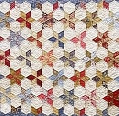 English Paper Piecing.Lots of different shapes, plus lots of white space!