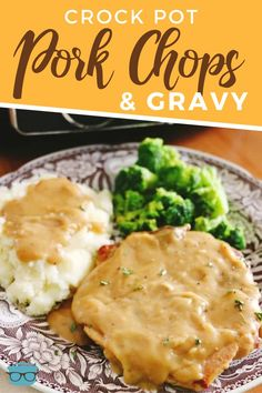 crock pot lasagna This easy recipe for Crock Pot Pork Chops with Gravy is so yummy! The pork chops come out so tender. Serve gravy over mashed potatoes! Pork Chop Recipes, Meat Recipes, Slow Cooker Recipes, Crockpot Recipes, Cooking Recipes, Cooking Dishes, Cooking Kale, Quick Recipes, Homemade Cookbook