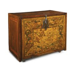 A German Renaissance walnut, fruitwood and marquetry cabinet late 16th century, <em>exterior sides and back reveneered</em>   Lot   Sotheby's