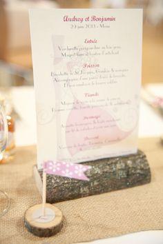 Wedding menu deco  Laura Delune Photography