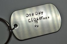 One Day Closer Key Chain, Deployment, Deployed, Military, Air Force, Marines, Navy, Army by MilitaryMetals on Etsy