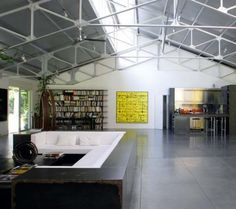 remash:    bernar venet's house | interior