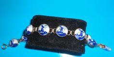 Vintage delft blue from holland bracelet sterling.