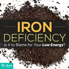 Is Iron deficiency to blame for your low energy? http://www.draxe.com #health #holistic #natural
