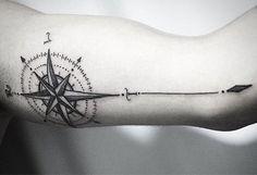 Rosa dos ventos | Tatuagem.com (tatuagens, tattoo)