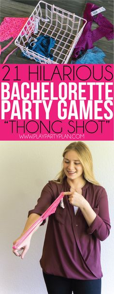 21 hilarious bachelorette party games that are clean, classy, and tasteful (only the names are dirty and raunchy), making them perfect for a girls night at home! No need for any drinking or a trip to Engagement Party Games, Wedding Party Games, Hen Party Games, Wedding Ideas, Bachelorette Party Essen, Bachelorette Party Decorations, Bachelorette Party Drinking Games, Lingerie Party Decorations, Young Living