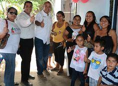 Acompañado por amigos de la Colonia Adolfo López Mateos en Altamira. ¡Gracias por su apoyo!
