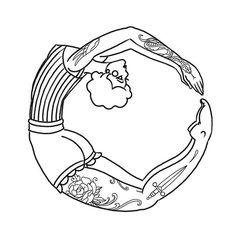 Girl in a circle @thecirclelondon