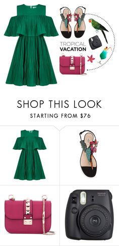 """Sem título #735"" by tabata-sachetti ❤ liked on Polyvore featuring Jovonna, Valentino and Fuji"