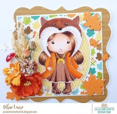 From our Design Team! Card by Celine for inspiration on La-La Land Crafts blog. Click on the photo for product list and coloring details