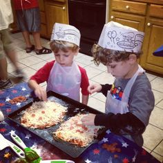 Grandson pizza party!