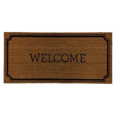 "Welcome Estate Doormat (1'10""x3'11"") - Threshold™ : Target"