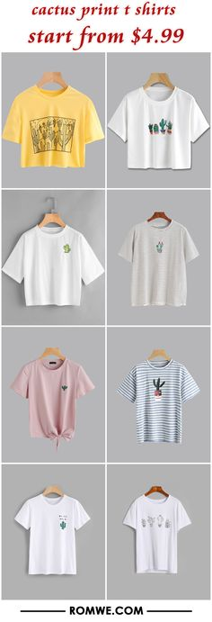 cactus print t shirts from $4.99
