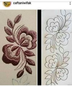 Floral Embroidery Patterns, Couture Embroidery, Ribbon Embroidery, Embroidery Stitches, Sewing Machine Embroidery, Free Machine Embroidery Designs, Chicken Scratch Embroidery, Wreath Drawing, Cross Stitch Bookmarks