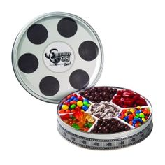 Candy tin for candy bar movie theme wedding