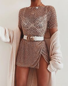 Top via ad.Top: Champagne Dreams TopHappy New Year babes! Boujee Outfits, Cute Casual Outfits, Stylish Outfits, Fashion Outfits, Womens Fashion, Fashion Ideas, Club Outfits, Club Dresses, Fashion Tips