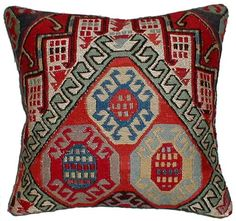 Traditional Caucasian primitive embroidered animal motifs and wonderful color combinations. Change the theme of any room in your home or office without changing the furniture. Add a touch of inspiration to your rooms or office through truly unique kilim pillows that accent your personality. Your friends and neighbors will all take notice of how you have achieved the perfect accent in your room with unique decorative throw kilim cushions.