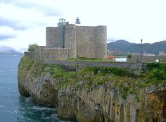 Place: Castillo-Faro de Santa Ana, Castro-Urdiales, Santander / Cantabria, Spain. Photo by: Unknown