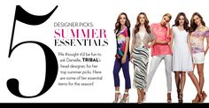 Designer Picks: Summer Essentials #tipsandtrends #tribalsportswear #summer #fashion #designerpicks Tribal Fashion, Summer Essentials, Summer Tops, Designer, Shopping, Trends, La Mode, Ethnic Fashion