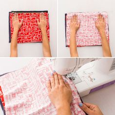 Follow these steps to make a cotton laptop case.