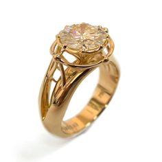 Large Diamond Ring Statement Ring 3ct Ring by DoronMeravWeddings