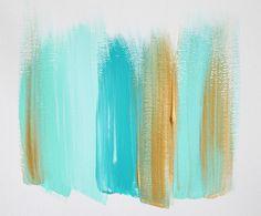 teal and gold- colores para pintar mi cuadro para el living