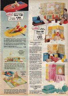 Vintage - Barbie - Sears Wish book, 1975. Spent hours putting check marks by what I wanted for Christmas...