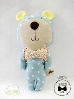 Los Fiogos Gang bear/ Teddy bear/ Plush bear/ Plush by lemondreamz