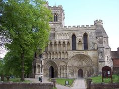 The Priory founded by King Henry I at Dunstable.
