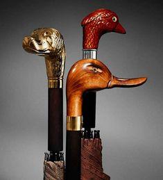 Duck Handle Umbrella by Burberry. I need a new umbrella. Under My Umbrella, Walking Sticks And Canes, Walking Canes, Cannes, Cane Handles, Umbrellas Parasols, Animal Heads, Magcon, Moda Masculina