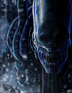 Xenomorph thingy by Rhunyc on DeviantArt <br> Alien Vs Predator, Predator Alien, Les Aliens, Aliens Movie, Arte Alien, Alien Art, Xenomorph, Alien Creatures, Fantasy Creatures
