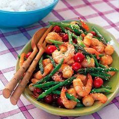 Sesame Shrimp and Asparagus Stir-Frygoodhousemag