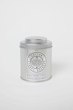 Doftljus i metallbehållare - Silver/Cotton - Home All | H&M SE 1