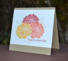 Stampin' Up ideas and supplies from Vicky at Crafting Clare's Paper Moments: The three Minute masked card