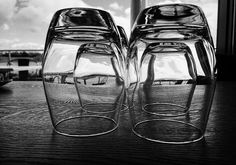 Time spent reflecting.....#reflection #reflections #reflectinginglass #reflectinginglasses #unique #glasses #lake #myweekend #girlbehindthelens15 #blackandwhite #blackandwhitephotography