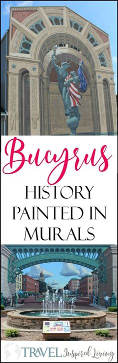 Those passing through Bucyrus, Ohio may notice two Eric Grohe murals, Great American Crossroad on the historic Lincoln Highway and Liberty Remembers, only a block away. The Bucyrus #murals share the #history of the community in a vivid display of color. #