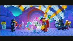 """Cloud Cuckoo Land"" sequence keylight and shot lighting - The Lego Movie 2013"