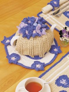 Tea Cozy | Yarn | Free Knitting Patterns | Crochet Patterns | Yarnspirations