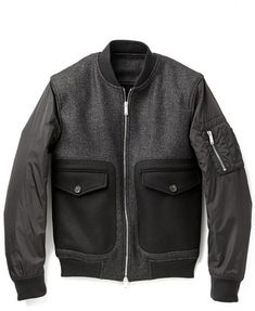 Charcoal Bomber Jacket by DSquared. Buy for $889 from East Dane