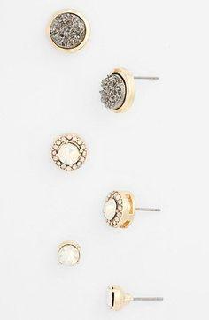 Cara Stud Earrings (Set of 3)