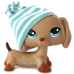 ✵Littlest Pet Shop✵1211✵CARAMEL BROWN DACHSHUND PUPPY DOG✵SUMMER FUN✵ACCESSORY✵